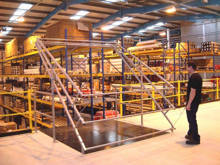 Mezzanine Pallet Gate Improving Safety Nsi Projects