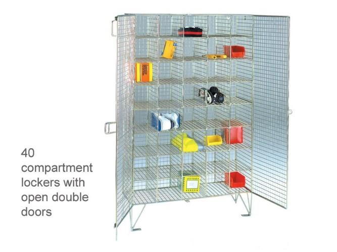 wire mesh lockers parts